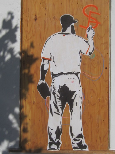 SF Giants Pasteup Stencil Art