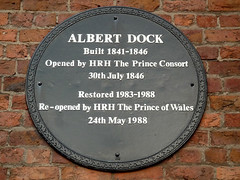 Photo of Charles P A G Mountbatten-Windsor, Albert of Saxe-Coburg and Gotha, and Albert Dock black plaque