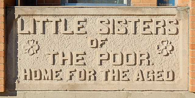 Little Sisters of the Poor, in Saint Louis, Missouri, USA - sign
