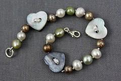 Heart Button Bracelet (Piccolissimo) Tags: birthdaypresent pearlbracelet anniversarypresent buttonbracelet giftsforher freshwaterpearlbracelet