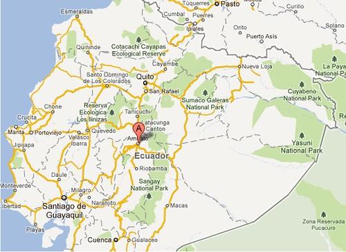 Fwd: ambato-ecuador-map