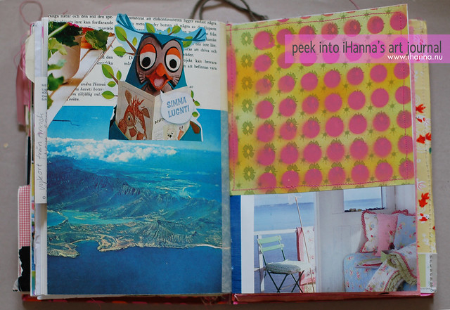 Art Journal Peek: an owl love storie