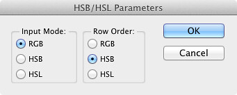 HSB-HSL Parameters