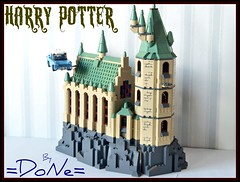 Lego HP project -module 01- (=DoNe=) Tags: tower castle ford car by flying lego tan harry potter made homemade custom done angila legoharrypotter legohpproject legohogwartscastle lego4842