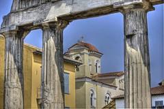 Church behind the ruins (Nikos Vosniadis) Tags: church ruins hellas athens greece