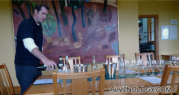 The winemaker from Audrey Wilkinson who guide us through our wine-tasting