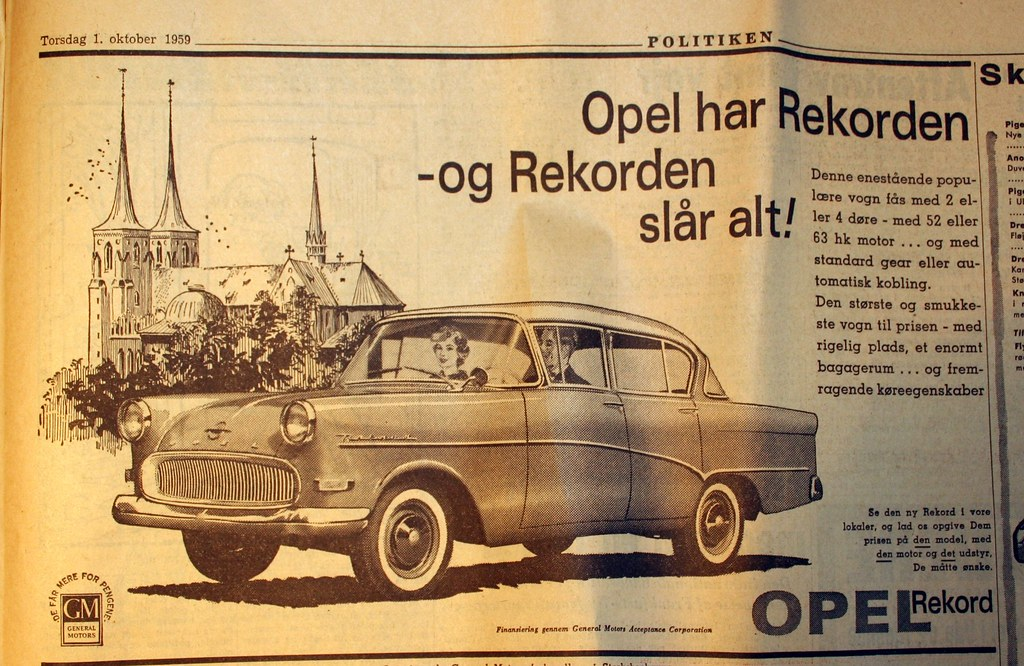 Opel and Roskilde Cathedral