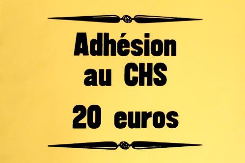 "Affichette ""Adhésion au CHS 20 euros"""