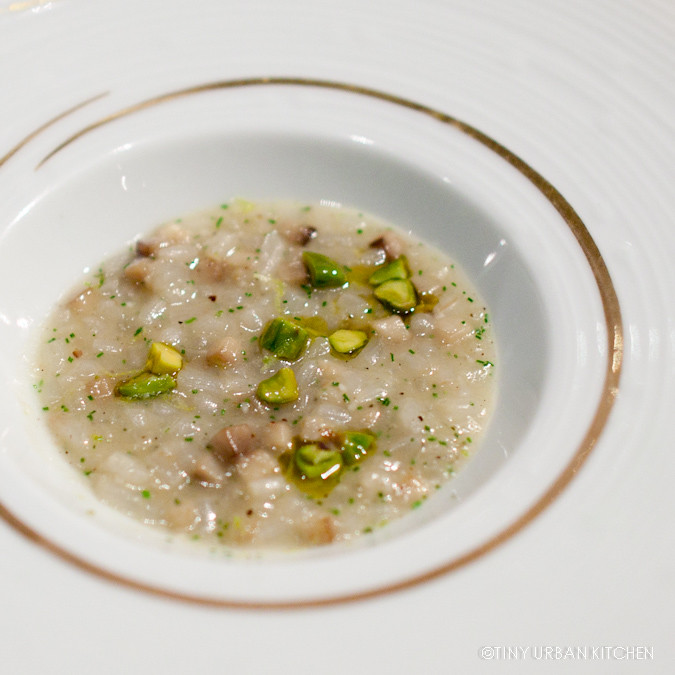 Le Soja  Risotto of soybean sprouts, lime zest and chives