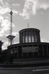 Funkturm (1) (tessarian) Tags: leica bw berlin tower 35mm germany deutschland kodak rangefinder 135 funkturm m2 rf tmax100 xtol carlzeiss tmx biogon zm 352