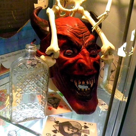 Devil mask at a vintage store, Portland, Oregon
