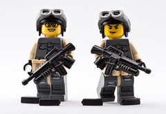 The Dynamic Duo (~Ghost Soldier~) Tags: with mags curved prototypes gl brickarms m16a1