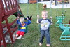 IMG_9120 (drjeeeol) Tags: halloween costume backyard katie superman charlie will superhero cape supergirl triplets toddlers 2011 36monthsold