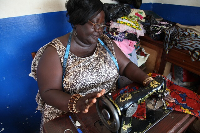 Madam Toublou, a seamstress turned paralegal and women's activist, trained by GF2D.