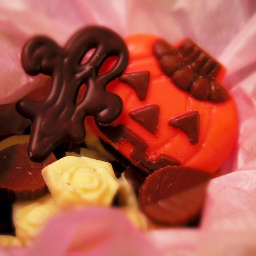 Jack-o'-lantern chocolate