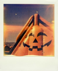 Pumpkin Patch (Nick Leonard) Tags: vegas blue autumn sky orange fall film halloween face analog polaroid outside outdoors colorful lasvegas vibrant nevada nick scan lightleak pumpkinpatch landcamera polaroidsx70 polaroidlandcamera instantfilm epson4490 firstflush colorshade integralfilm nickleonard polaroidsx70model2 theimpossibleproject ndpackfilter px680 px680ff stumillerspumpkinpatch