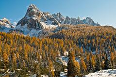 First Snow in the Dolomites (moraustom) Tags: roadtrip sdtirol altoadige dolomiten cosmomark