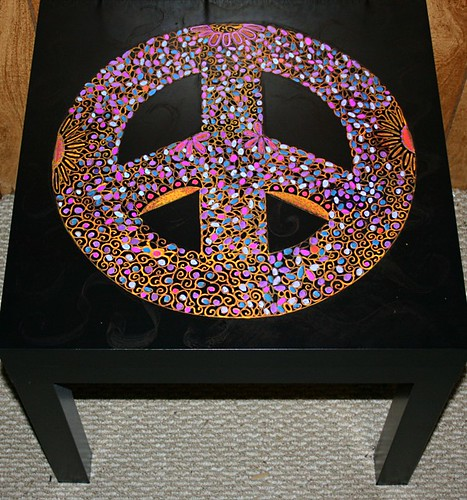 Peace Sign Table by Rick Cheadle Art and Designs