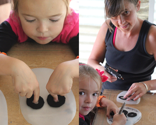 "Dia de los Muertos Masks (eyes) by Brenda Ponnay for Alphamom.com #diadelosmuertos #craft #masks #halloween #kidscraft #diymask #dayofthedead #dayofthedeadcraft"""