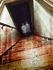 Haunted stairwelll (Pfish44) Tags: texture halloween stairwell ghosts bloody picnik allingoodfun