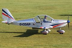 G-CDAP - 2004 build Aerotechnik EV-97 Eurostar, returning from the trip to pick up G-CGVT (egcc) Tags: manchester 912 eurostar aviation barton microlight rotax cityairport ev97 2114 cosmik mainair aerotechnik egcb gcdap