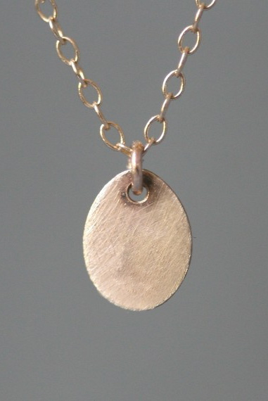 Tiny Oval Necklace