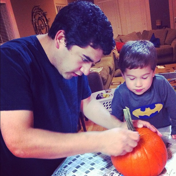 Pumpkin carving time.