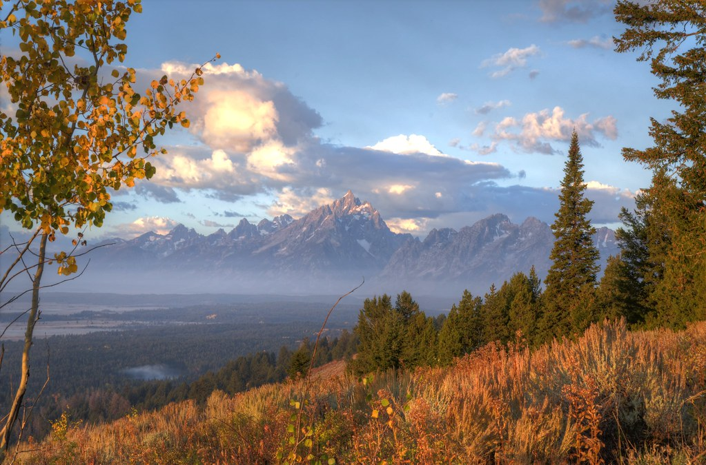 View of Grand Tetons from Signal Mountain, WY