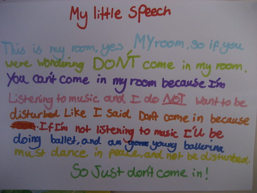 My little speech