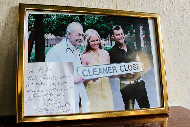 East Enders picture from filming in Turners Old Star pub Wapping
