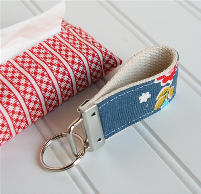 tissue holder, key fob