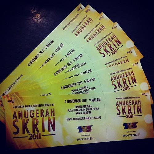 Tiket Anugerah Skrin 2011 utk pembaca