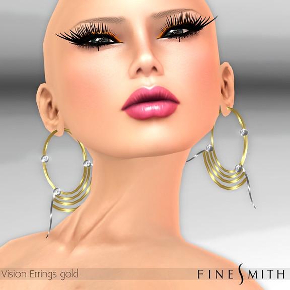 Vision Earrings Gold