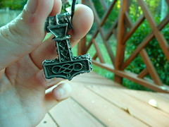 Thor (quietplaces) Tags: outdoors hand thor norse asatru mjollnir