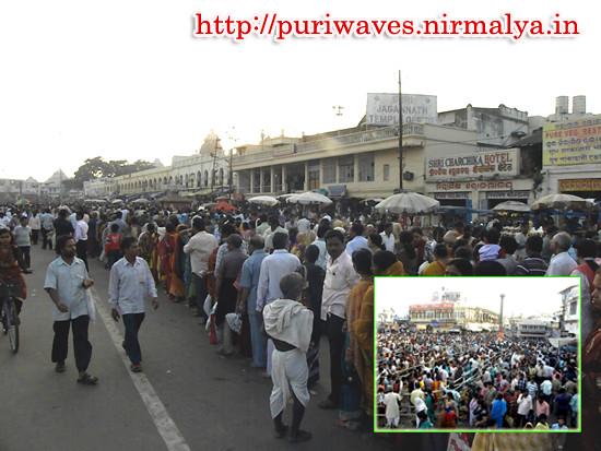 Good congregation for Panchuka Ekadasi at Puri