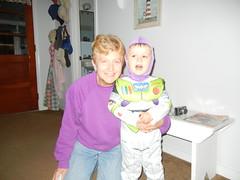 Buzz Light Year with Nan Ann