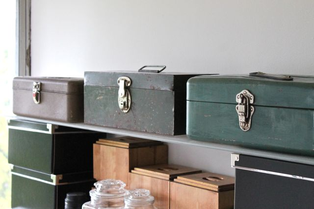 vintage toolboxes - new office