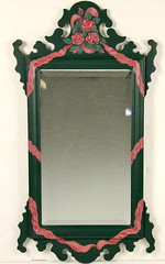 171. Paint Decorated Chippendale style Wall Mirror