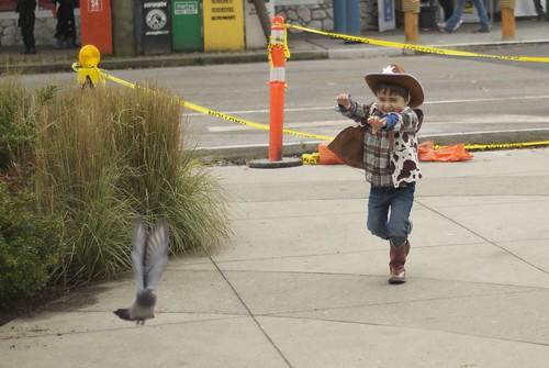 Cowboy/Pigeon wrangler