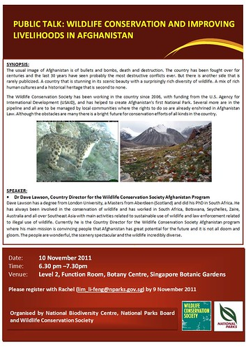 Afghan conservation talk