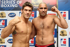 10/11/2011 Weigh-In Mumbai Fighters vs Dolce Gabbana Milano Thunder (World Series Boxing) Tags: india sports horizontal fight action stadium wsb ring boxer match maharashtra boxing title gym weighin success weigh pune challenger winning confidence sportscomplex bout ind pugilist balewadi worldseriesboxing milanothunder doceandgabbanamilanothunder mumbaifighters