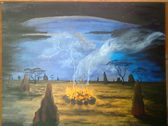 Rod Lucas, Acrylic Painting 6 (ABC Open North West Queensland) Tags: artist northwest paintings eucalypt queensland gumtrees gulfofcarpentaria karumba indigenousartist outbacklandscape rodlucas outbackartist