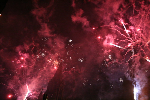 Fireworks over Town Hall