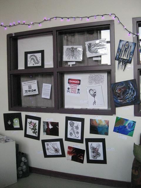 My art setup at Open Studio Weekend 2011, Artspace Hartford