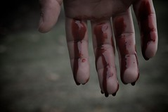 """Lately"" 1 (7/30) (FarronArt&Photo) Tags: woman man art blood couple hand fingers dream surreal drip blond series metaphor dripping davidgray lifeinslowmotion"