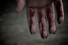 """Lately"" 1 (7/30) (FarronArt&Photo) Tags: woman man art blood couple hand fingers dream surreal drip blond series metaphor dripping davidgray lifeinslowmotion"