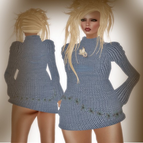 A&A Fashion Sweater/Dress Blue