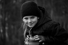 Fellow soul snatcher (A-cat-and-a-half) Tags: street city family autumn girls light sunset shadow portrait people urban bw nature girl smile closeup youth forest portraits ger