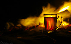 Fire Tea (abdulelah Al-wazrah) Tags: winter red black night fire photography flickr tea riyadh 2012 ksa abdulelah