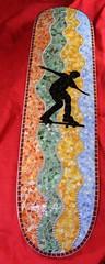 Skateboard Auction Donation (Mosaic Designs By Annie B) Tags: art mosaics stainedglass skateboard donation treach mosai